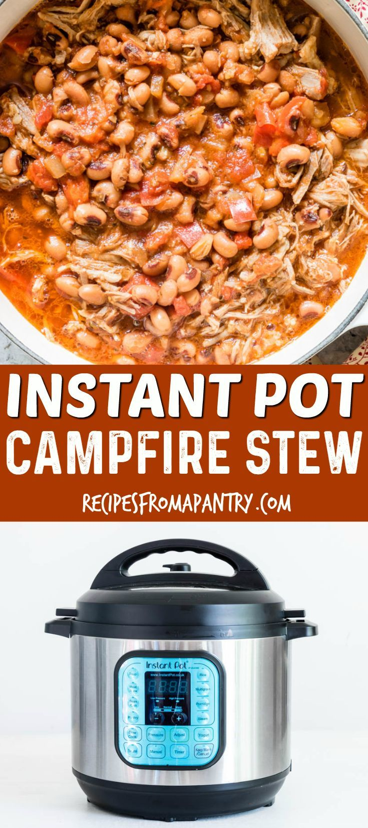 Check out this AMAZING and FLAVOURFUL Instant Pot Campfire Stew recipe! You'll learn how to make Instant Pot Campfire Stew as well as Slow Cooker Campfire Stew, Oven Campfire Stew, and of course Campfire Stew on the campfire. A hearty and easy stew recipe from Recipes from a Pantry. #campfirestew #instantpot #camping #camprecipes #stew