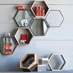 Honeycomb Shadow Box Shelves - Sarah Richardson Design