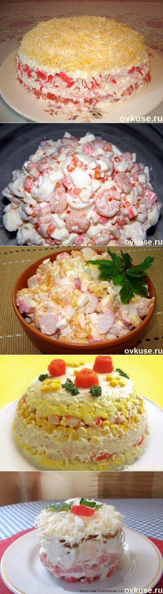 Рецепты салатов с крабовыми паличками