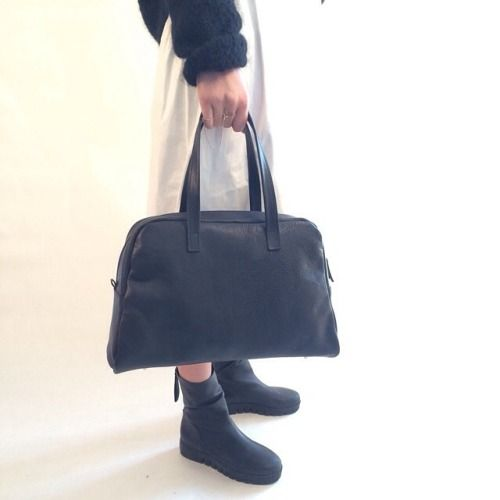 Black Elita  #bowlingbag #bag #black #white #blackandwhite #handmade #madeinitaly #handcraft #leather #tmr_rso