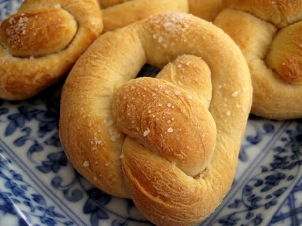 "German Pretzels: ""These are really good pretzels! They're nice and crusty with a tender inside."" -EmmyDuckie"