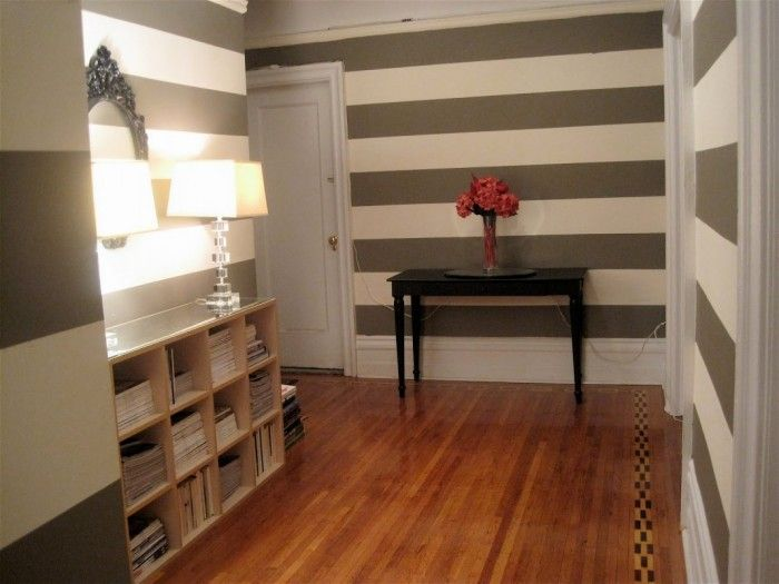 Entry with Stripes and Books