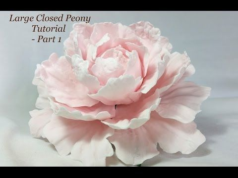 How to make an easy Peony Flower by Le Beau Cake - YouTube