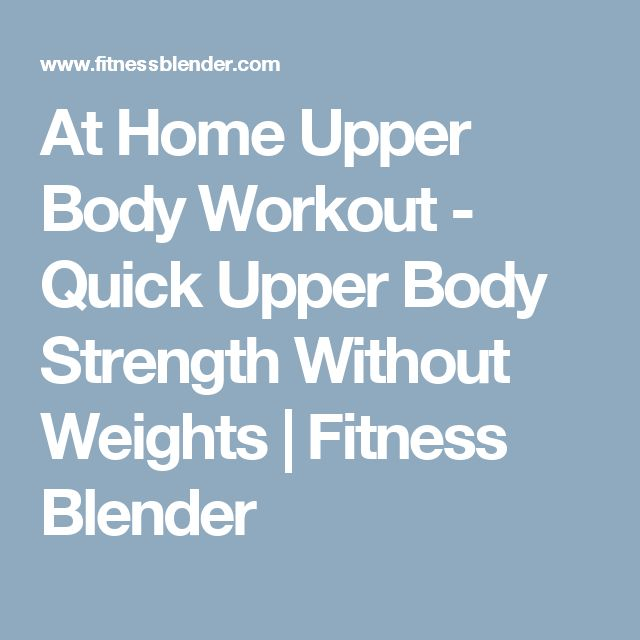 Upper Body Home Workouts Without Weights Pictures