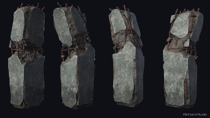 Broken Pillar, Richard Rude on ArtStation at https://www.artstation.com/artwork/OPm9b
