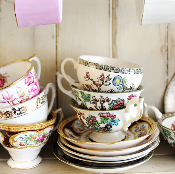 Unique Housewarming Gift Vintage China Tea by PicturesLifeThings