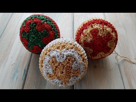 How to Crochet Christmas Baubles - YouTube