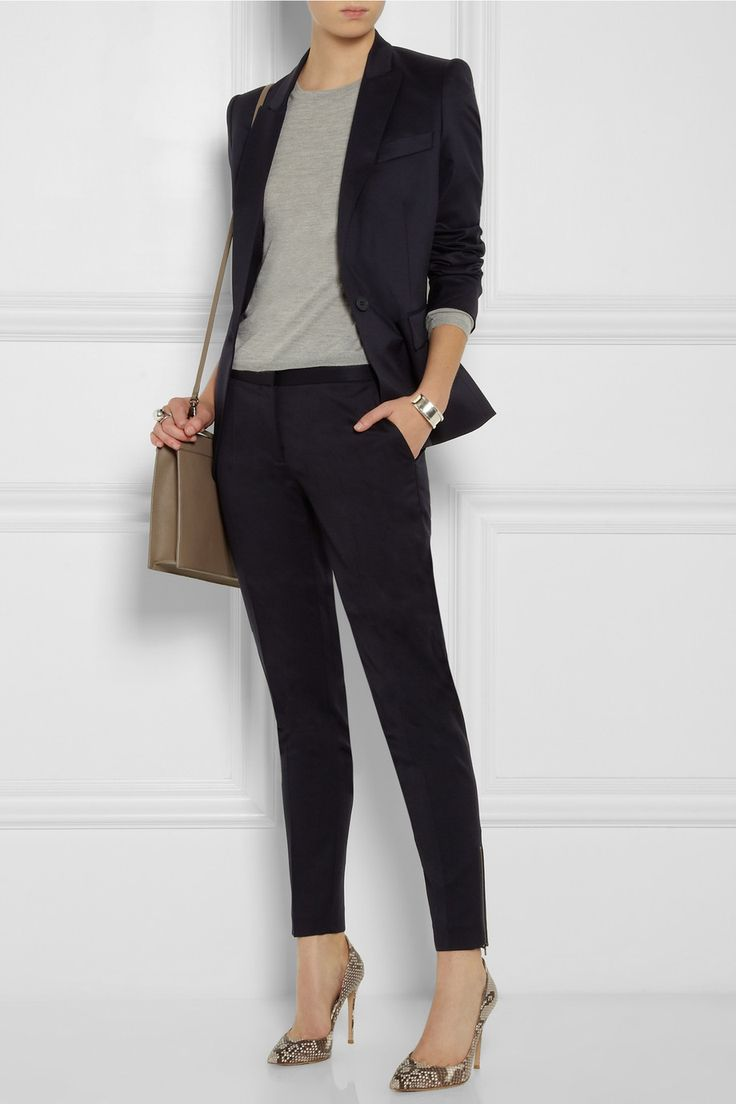 Stella McCartney | Vivian wool-gabardine tapered pants and blazer
