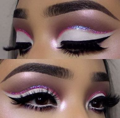 This glitter eyeshadow look is amazing!