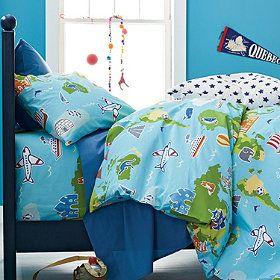 Around the World Boys' Percale Bedding