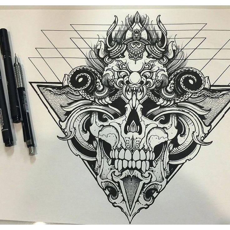 Morphing skull mandala. Created by our #sullenfamily @orge_saketattoocrew of…