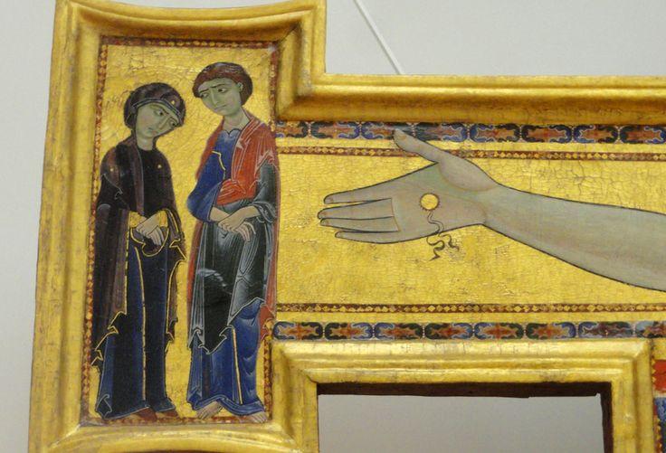 Расписной крест, около 1180-1200гг. Расписал его Маэстро делла Кроче, Мастер креста, то есть неизвестный мастер. Откуда взялся в Уффици - тоже неизвестно. Первый раз…