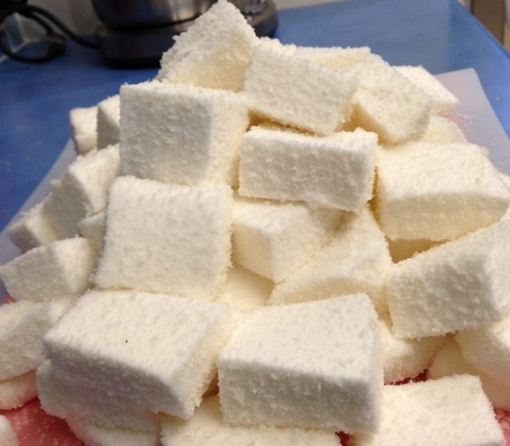 Marshmallows with egg and creme of tartar (as well as gelatine)
