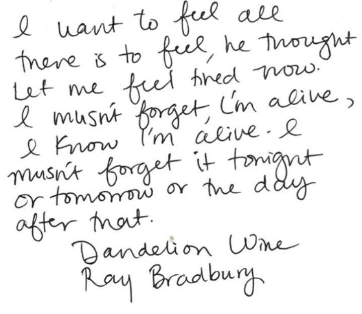 """Dandelion Wine"" by Ray Bradbury"