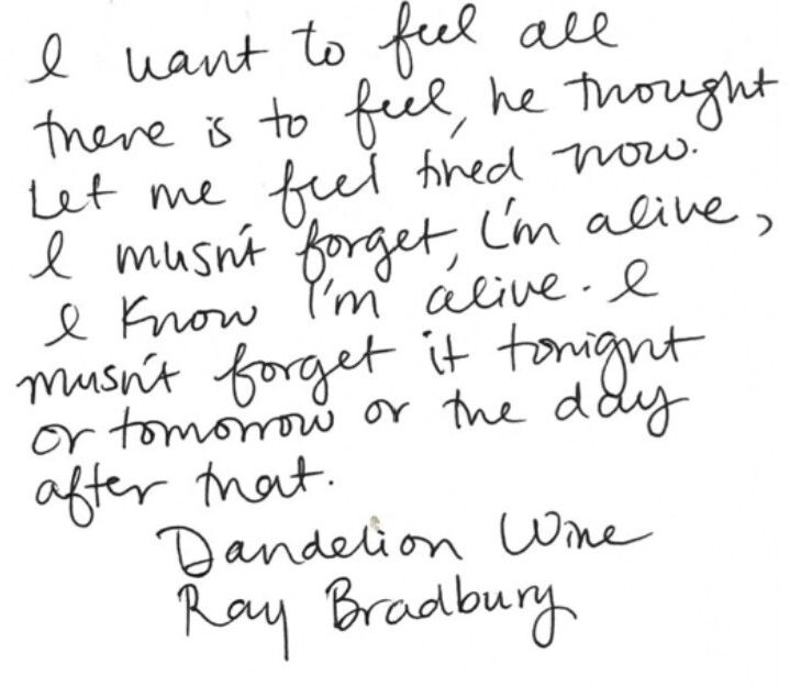 """Dandelion Wine"" by Ray Bradbury"