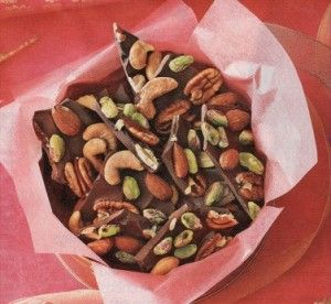 christmas gift - chocolate nut bark