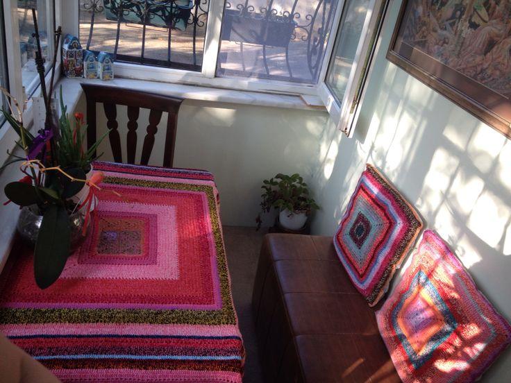 Balcony ideas, crochet