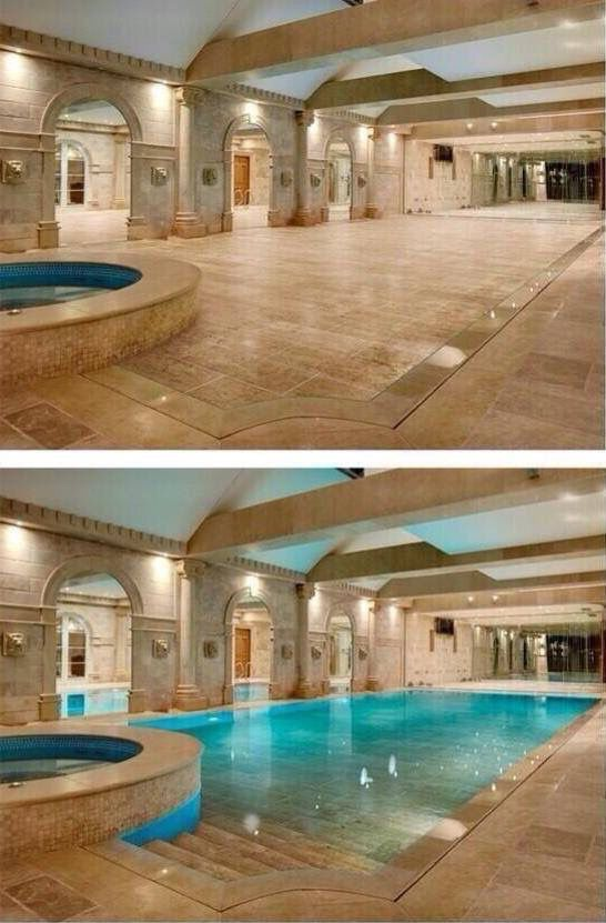 indoor pool floor pool cover