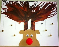 Rudolph Melted Crayon Canvas