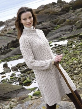 Flared Coat from Irish Sweater Mill