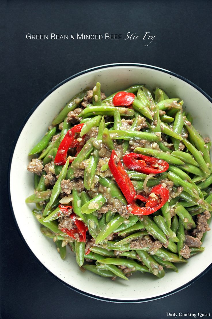 Hot And Sour Beef Stir-fry With Green Beans Recipe — Dishmaps