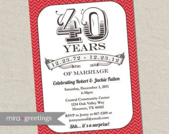 35 Ruby Anniversary Props 40th Anniversary by YouGrewPrintables