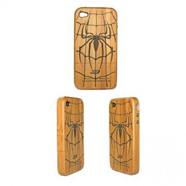 Genuine Wood (Hämähäkki) iPhone 4/4S Suojakuori - http://lux-case.fi/genuine-wood-hamahakki-iphone-4-4s-suojakuori.html