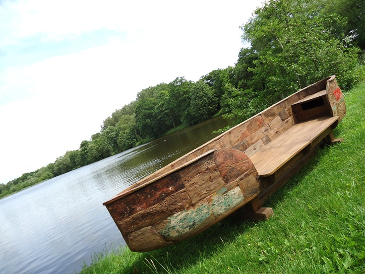 Reclaimed Teak Canoe Bench!