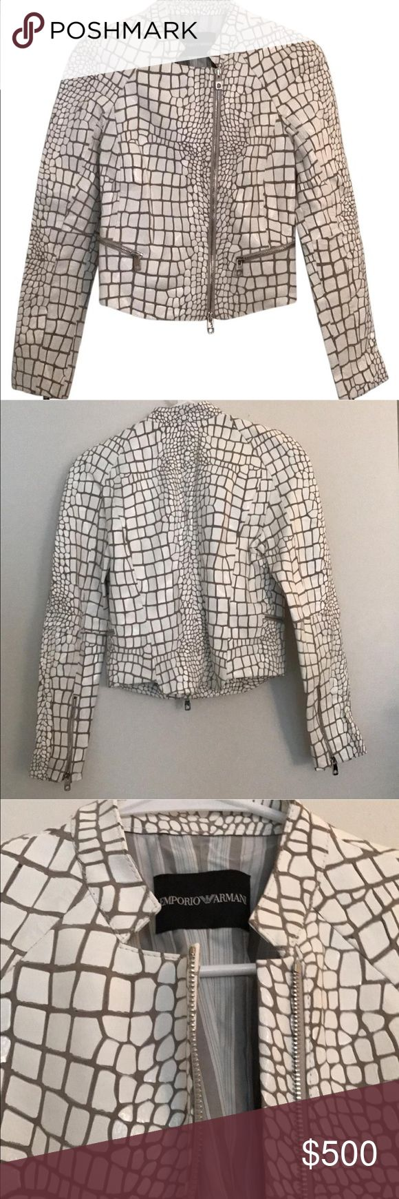 Emporio Armani Leather Jacket Beautiful snakeskin leather biker jacket Emporio Armani Jackets & Coats