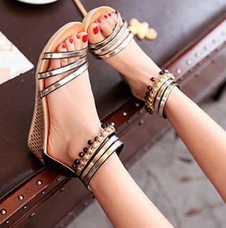 bohème sandales perlées  de Edlwise sur DaWanda.com