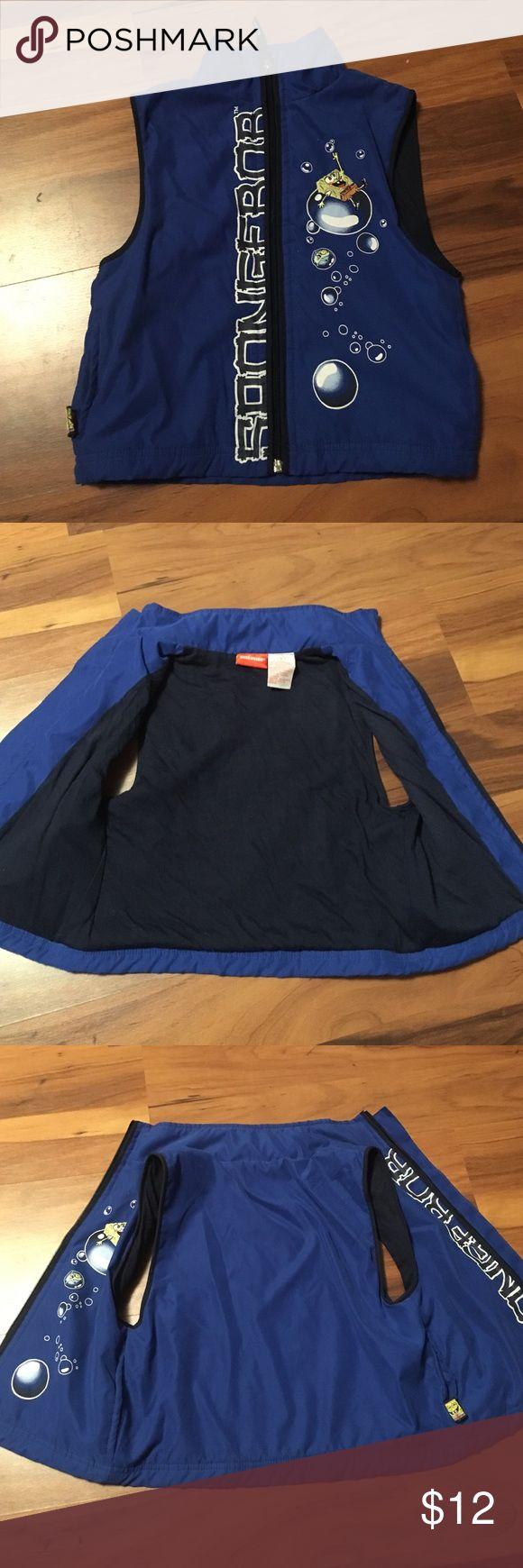 Nickelodeon SpongeBob Vest Nickelodeon SpongeBob vest size 5. In perfect condition. Barely ever worn. Two pockets. Nickelodeon Jackets & Coats Vests