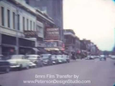 Downtown Battle Creek MI 1953 - YouTube