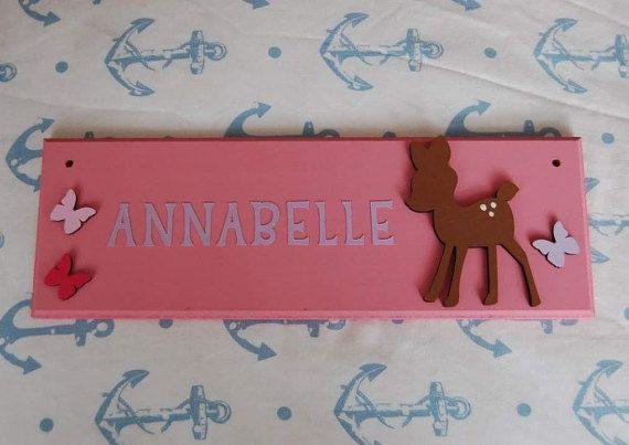 Deer Personalised Children's Bedroom Door Name plaque. Any