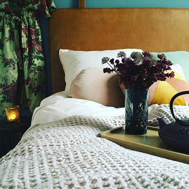 Dreamy #them #headboard #bythornam #leather #bedroom #homedecor #design #danishdesign #hygge #slowliving #leather #sleep #danishdesign #madeindenmark #handmade #interiordesign #style #furniture