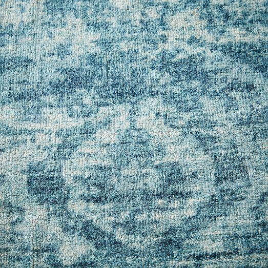 Kitchen Rug Inspiration:  West Elm Distressed Arabesque Wool Rug - Midnight   #LGLimitlessDesign #Contest