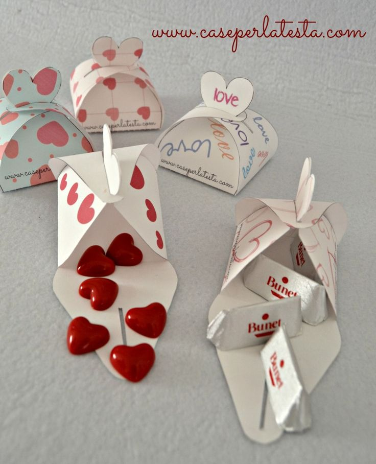 Scatolina per San Valentino stampabile gratis * free Printable Valentine's day box
