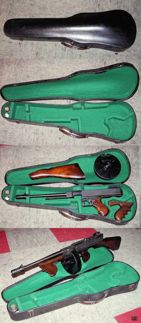 Violin case for Tommy Gun by ancestorsrelic