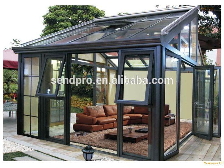 Glass Framed Sunroom Aluminum Frame Winter Garden Double