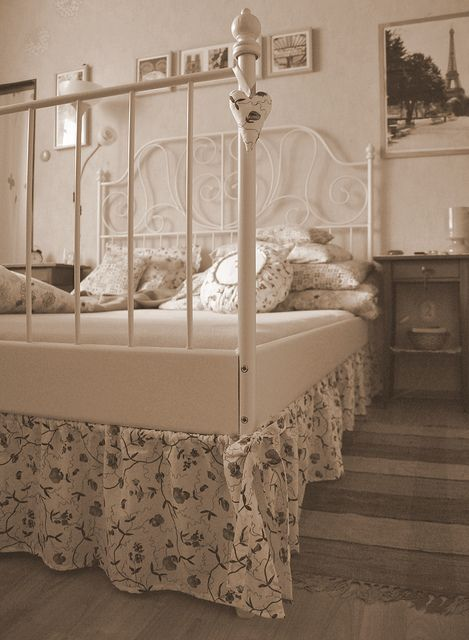 Ikea Leirvik bed frame, so pretty, prefect for a vintage inspired room!! I think this might be a must have!!