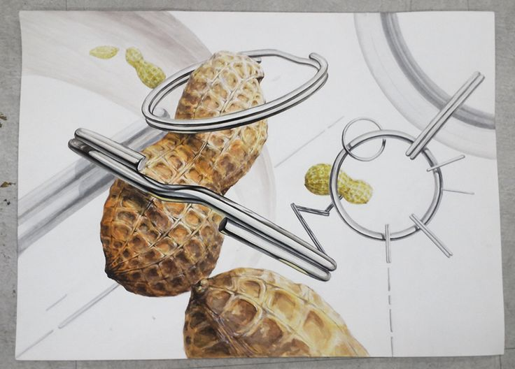 Peanuts and key ring drawing watercolor by Bryan Jeong
