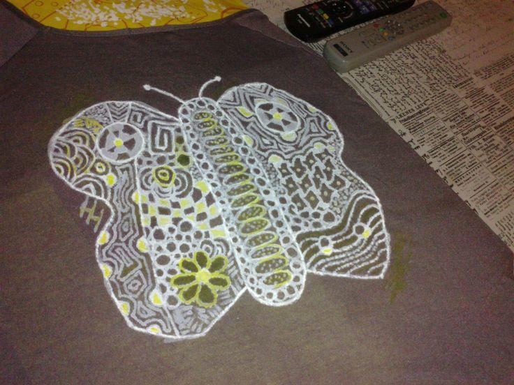 Motýl na tričko