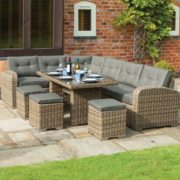 rowlinson thornbury rattan corner dining set garden furniture rh pinterest com