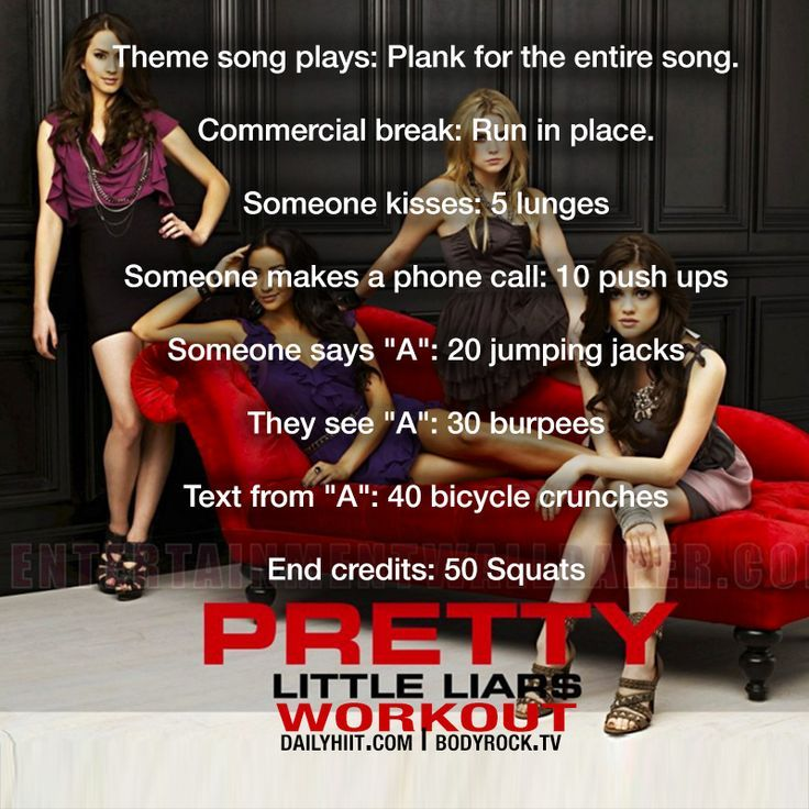 Pretty Little Liars. Netflix TV Workouts, TV Workout Games
