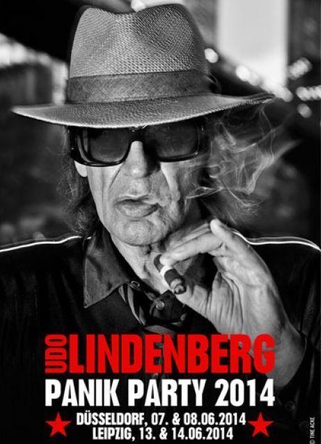 Udo Lindenberg - Panik Party Poster 2014 - signiert !!