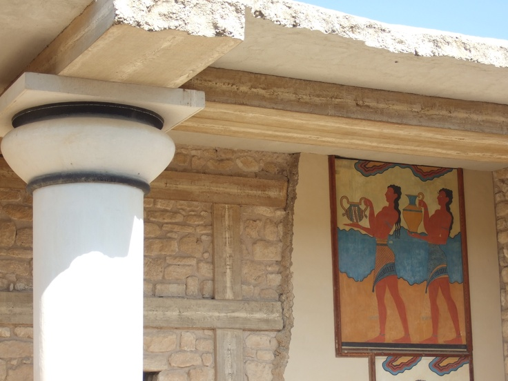 17 best images about knossos on pinterest dancing girls for Dolphin mural knossos
