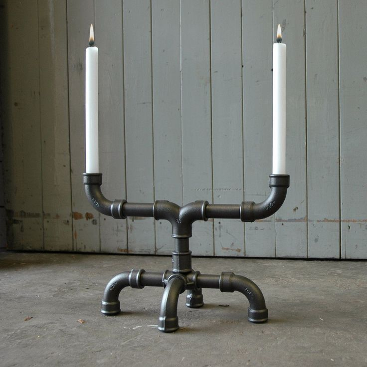 U-Tube Industrial Candle Holder #Candle, #Holder, #Industrial