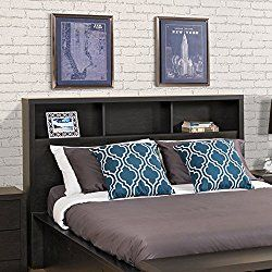 Prepac HHFQ-0500-1 District Double Headboard, Queen, Washed Black