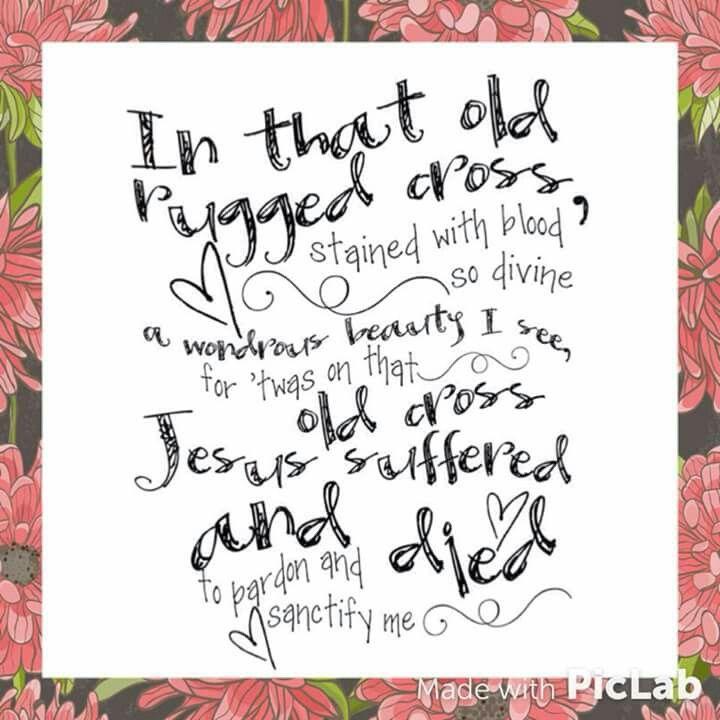 So Iu0027ll Cherish The Old Rugged Cross, Till