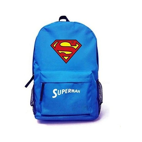 Superman Backpack ($23) ❤ liked on Polyvore featuring bags, backpacks, blue backpack, superman bag, blue bag, superman backpack and backpacks bags