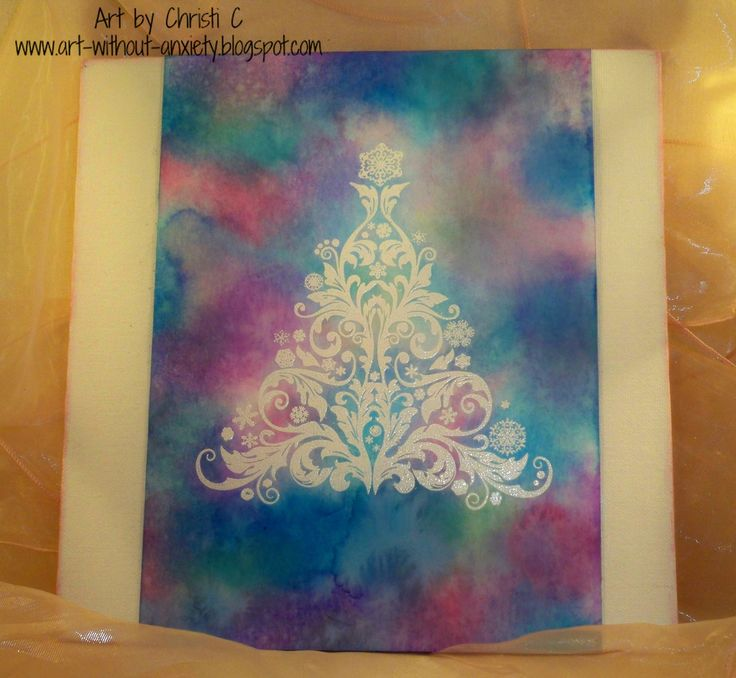 Mom's Tree - IndigoBlu stamp, Simon Says Stamp EP, Distress Oxides - yummy!